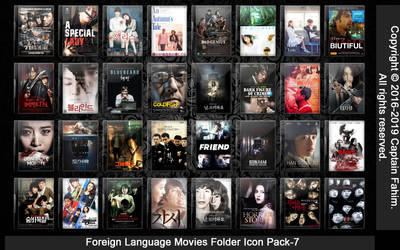 Foreign Language Movies Pack-7 Folder Icon