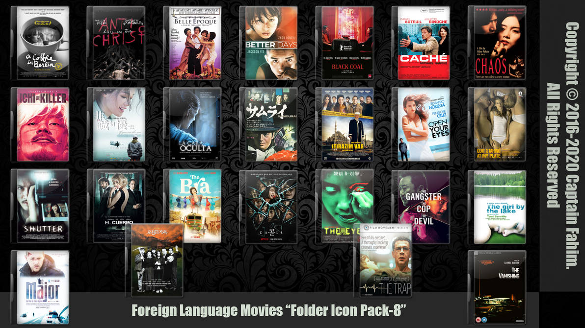 Foreign Language Movies Folder Icon Pack-8