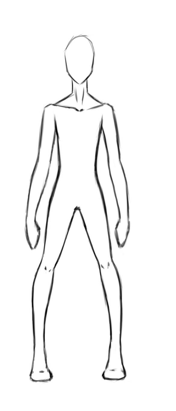 Anime male body base by pipi92