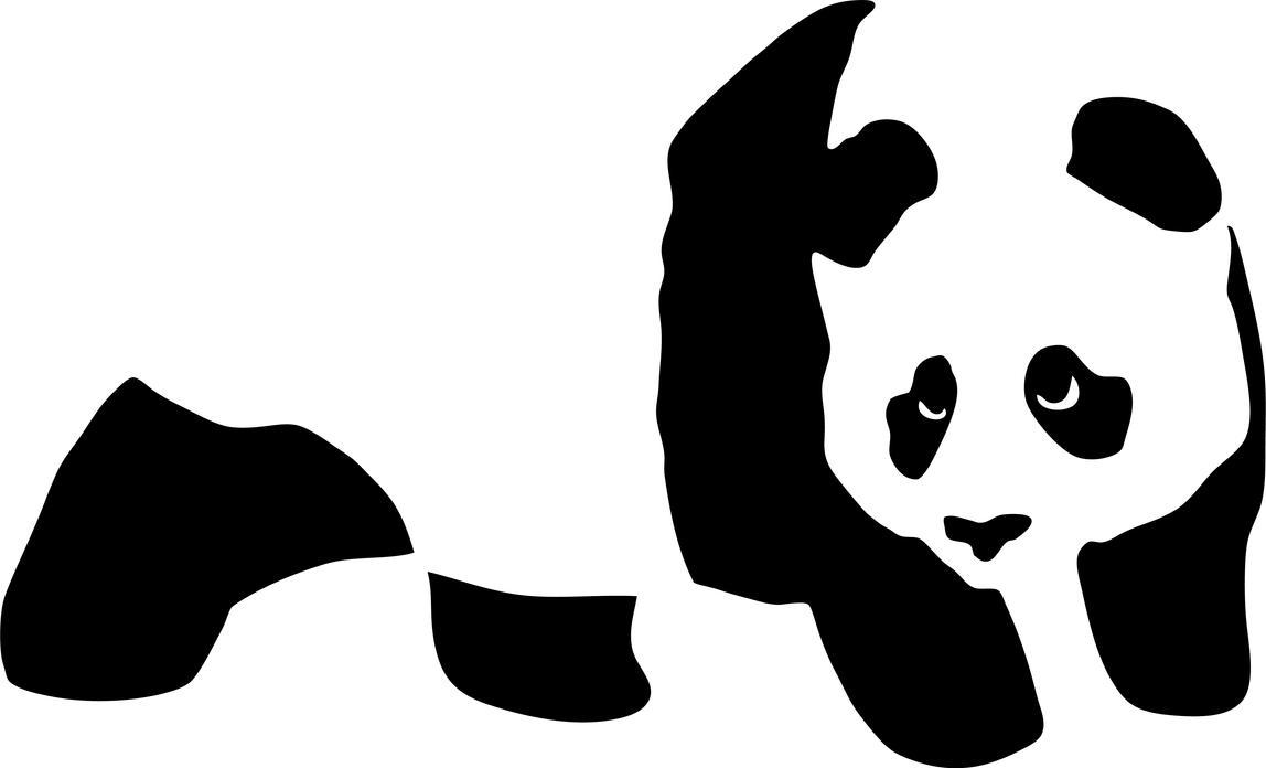 Vector panda stencil by xQUATROx