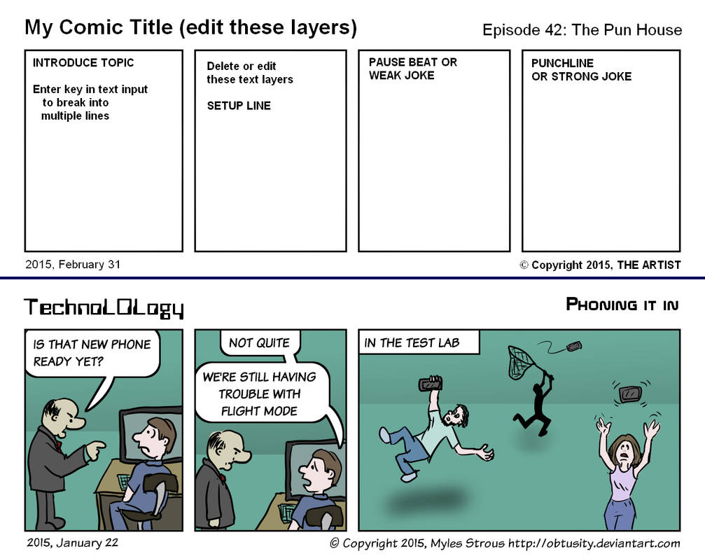 Comic Strip Template For Firealpaca By Obtusity On Deviantart