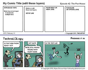 Comic strip template for FireAlpaca