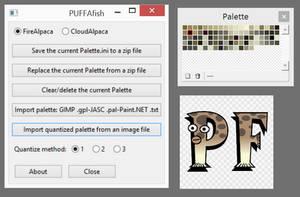 PUFFAfish 0.5beta Palette Utility For FireAlpaca