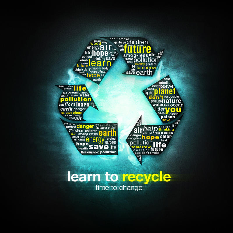 Learn to recycle wallpaper by madazulu