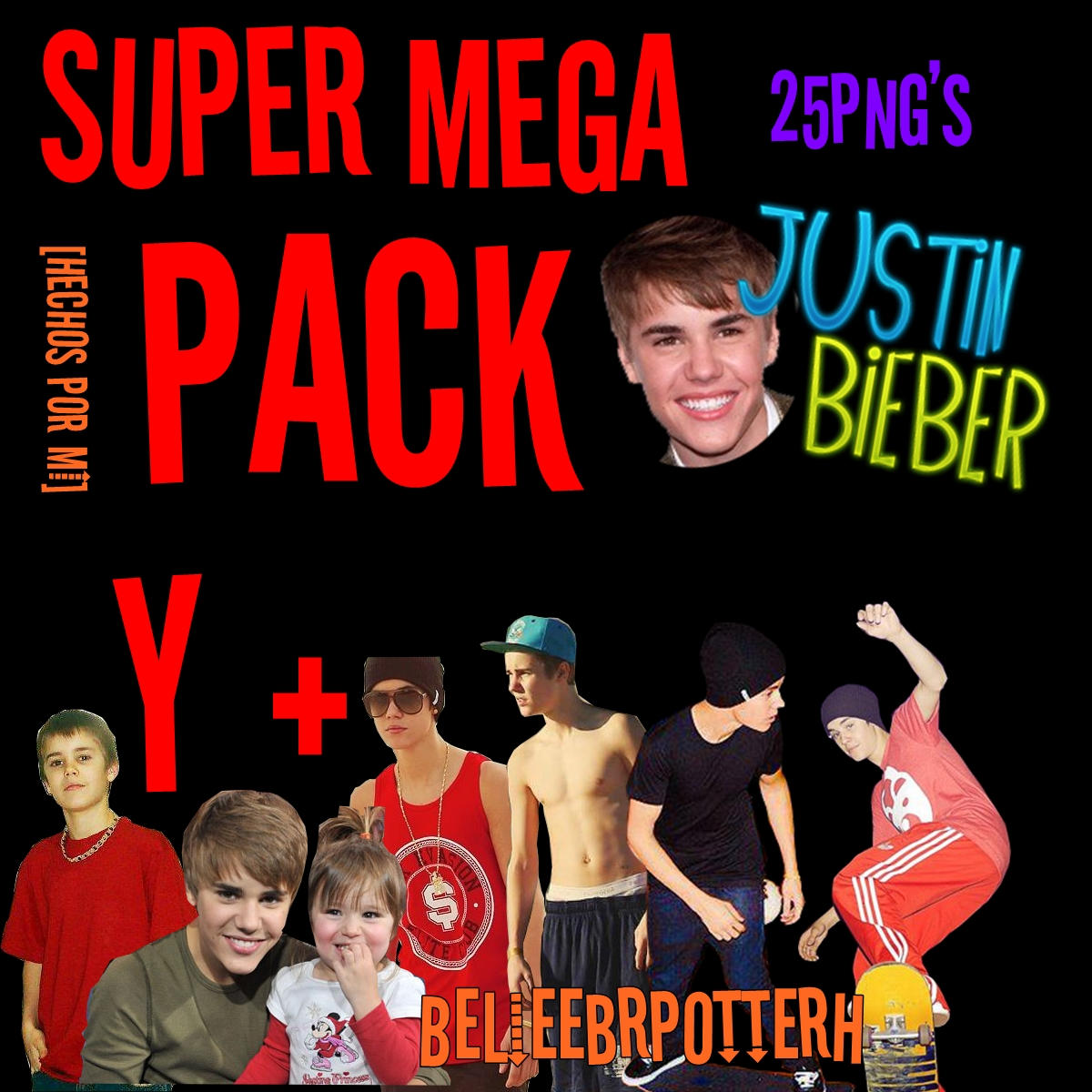 Justin Bieber - Pack PNG by BelieebrPotterH