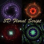 3D Floral Script