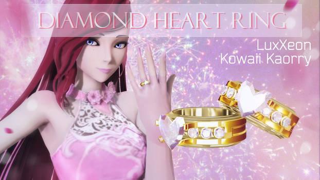 Diamond heart ring / Dl