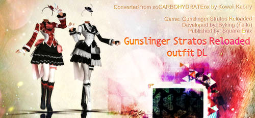 MMD Gunslinger Stratos Reloaded outfit DL