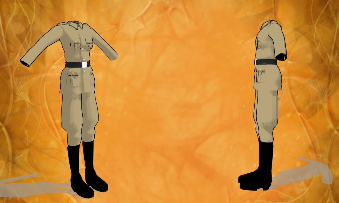 mmd male uniform by RoxaDragonsoul