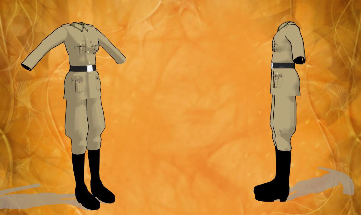 mmd male uniform by RoxaDragonsoul