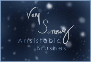 Very Snowy Brushes by arrsistable