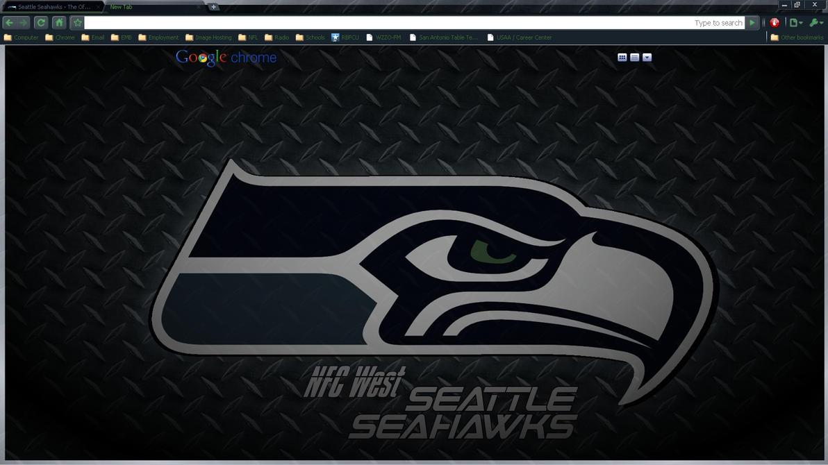 Google chrome themes in black - Seattle Seahawks 2010 Dp Theme By Wpfil