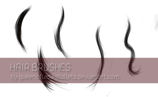 - Painted Hair Brushes - by SandyLynx