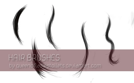 - Painted Hair Brushes -