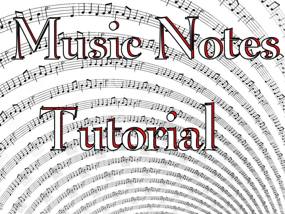 Music Notes Tutorial by Shortgreenpigg