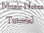 Music Notes Tutorial by Shortgreenpigg