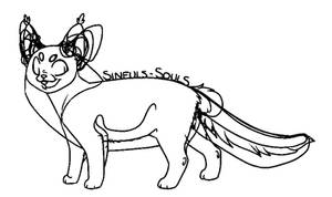 Cat Lineart [FREE 4 USE]