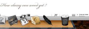 Wooden Class by Imageblender