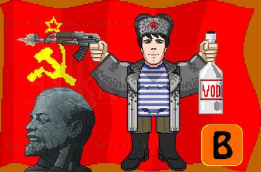 Pixel Bad Comedian comrade Evgeniy Bazhenov 8 bit
