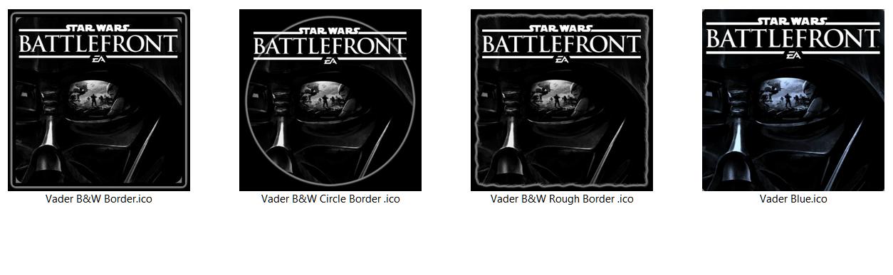Star Wars Battlefront Vader Icons JPG+ICO [x4] by Rhyz66