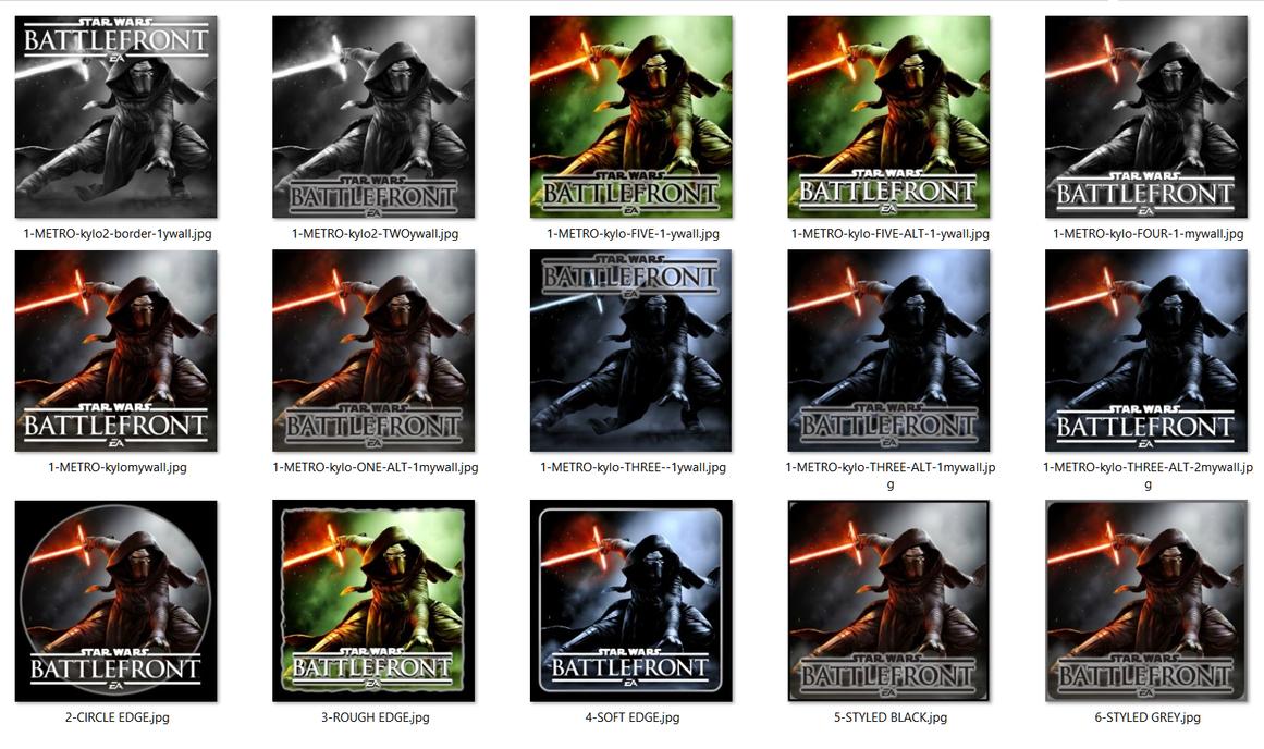 Star Wars Battlefront Kylo Ren Icons JPG+ICO [x46] by Rhyz66