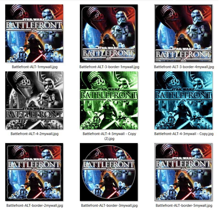 Battlefront Kylo Ren 1st Order Icons JPG+ICO [x17] by Rhyz66