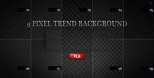 9 pixel trend background by boeenet