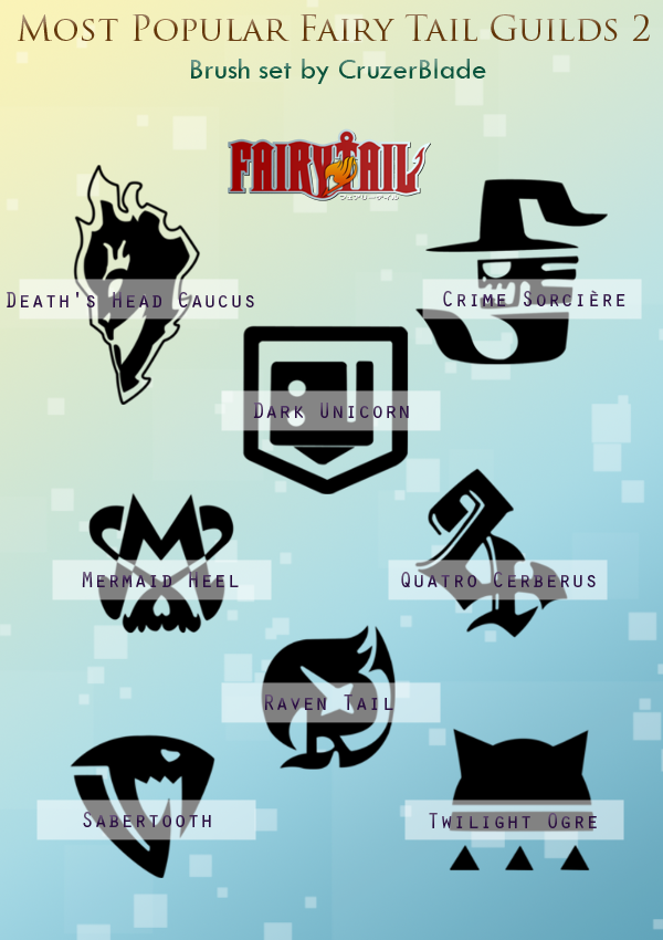 Fairy Tail Guilds Brush Set 2 by CruzerBlade on DeviantArt