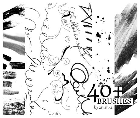 40+ Brush Pack by xnienke