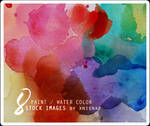 8 paint / water color stock images