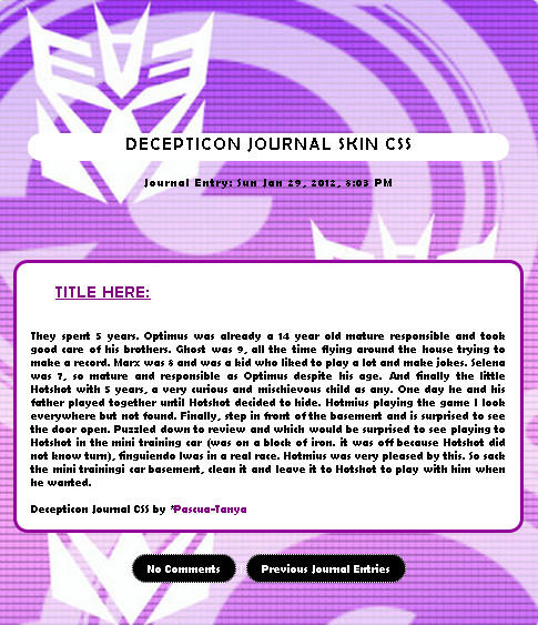 Decepticon Skin by Pascua-Tanya