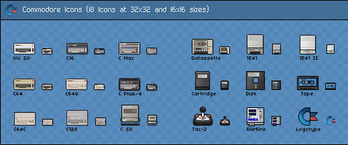 Commodore Icons by ahlberg