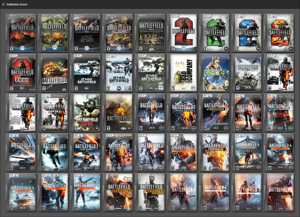 Battlefield Series by GameBoxIcons