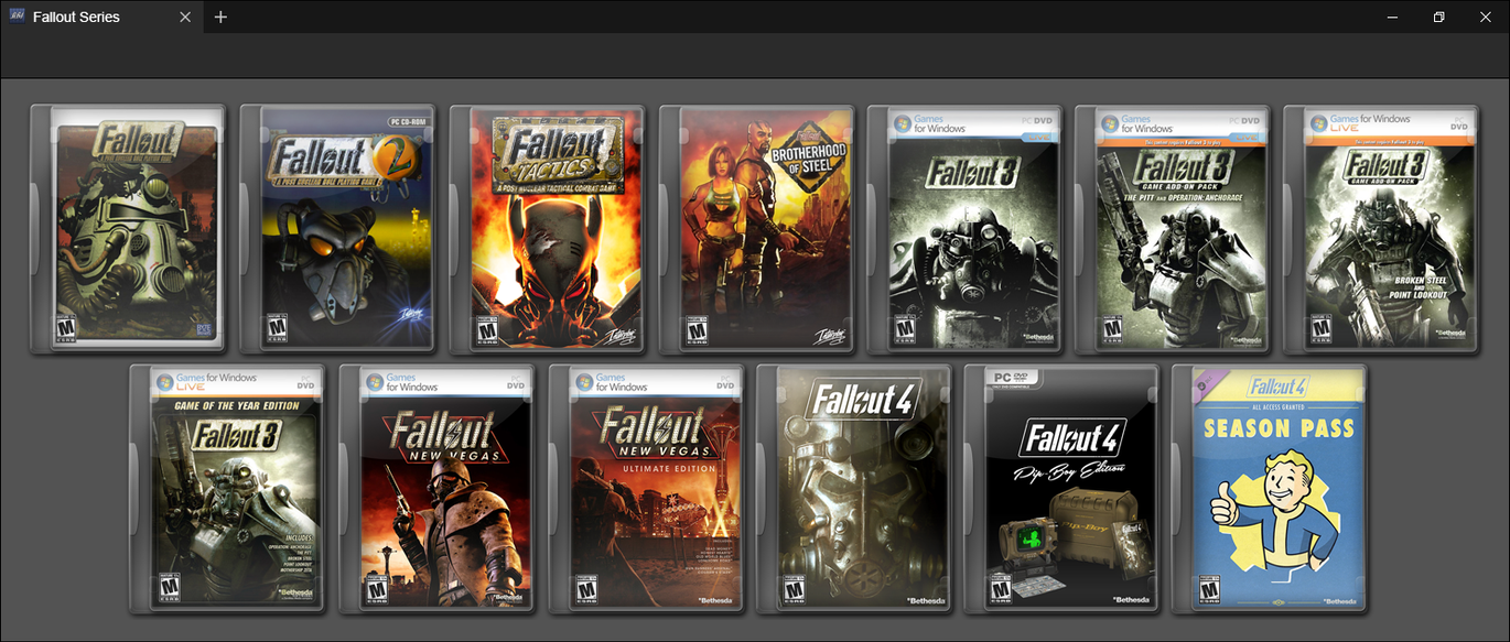Fallout Series by Game...