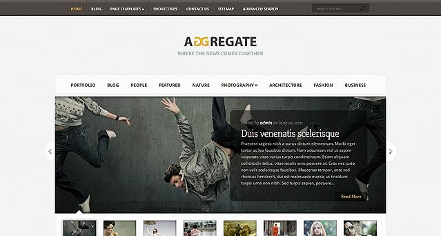Aggregate WordPress Theme by Triton-X