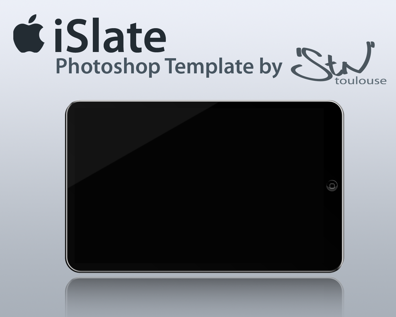 iSlate Photoshop Template