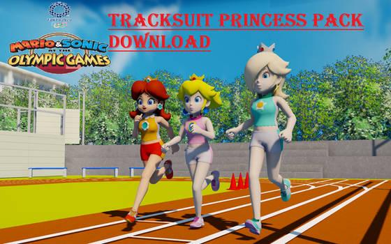 MMD Track Suit Princesses Pack DL