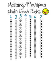 Chain brush pack for Medibang! by Pineapple-Fizz