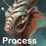 White Merman Process Gif