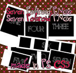 Seven Polaroid PNGs