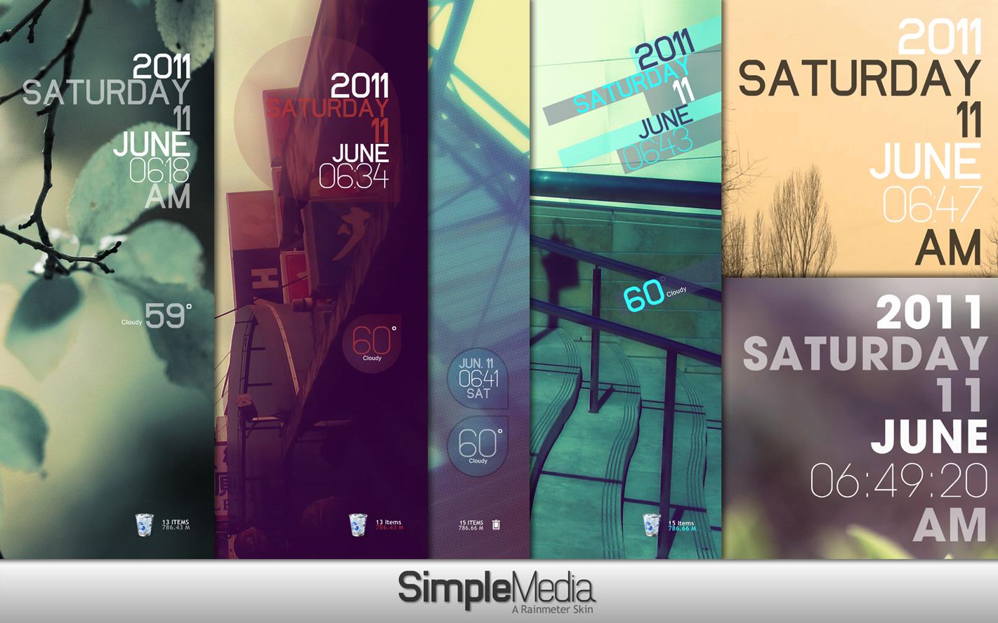 Rainmeter - Simple Media 1.1