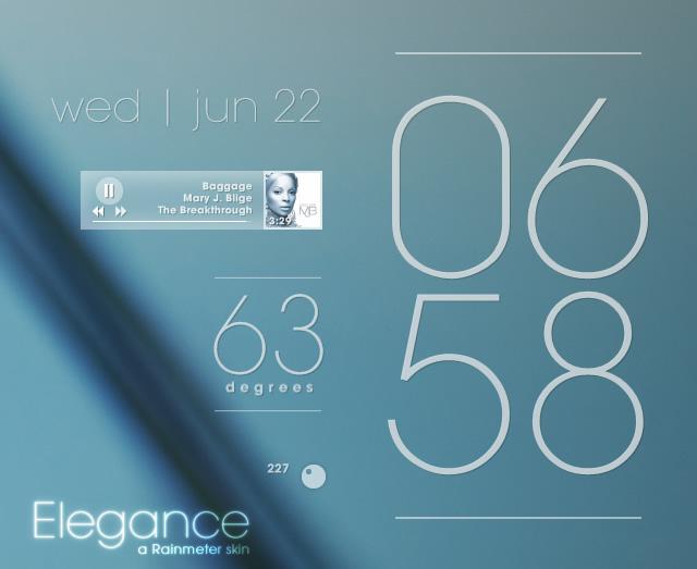 Rainmeter - Elegance 1.0