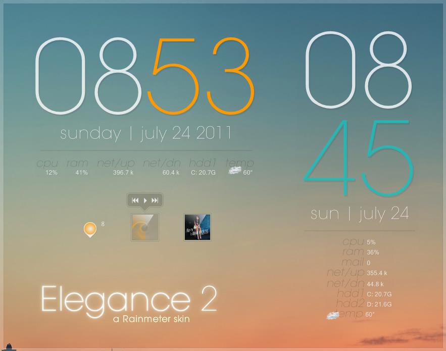 Rainmeter - Elegance 2
