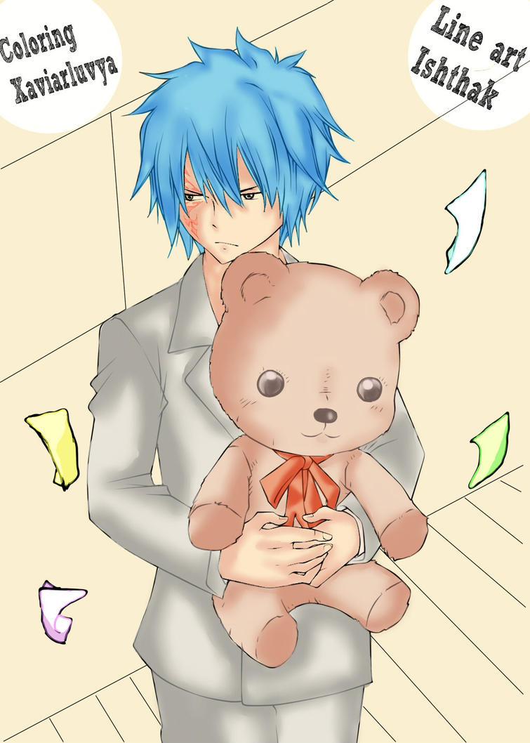 Jellal and His Teddybear? by Xaviarluvya