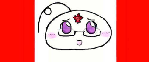 APH Mochi Canada ( Who? XD ) with Maple Leaf :3