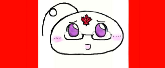 APH Mochi Canada ( Who? XD ) with Maple Leaf :3 by Shuru10