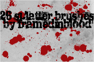 Splatter Brushes by PrinceNyanko