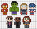 Mini Avengers Pattern