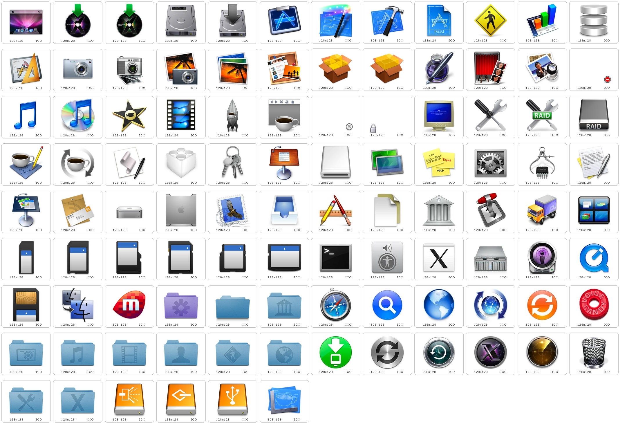 Leopard default system icons 1 by hjsergey on deviantart - Apple icon x ...
