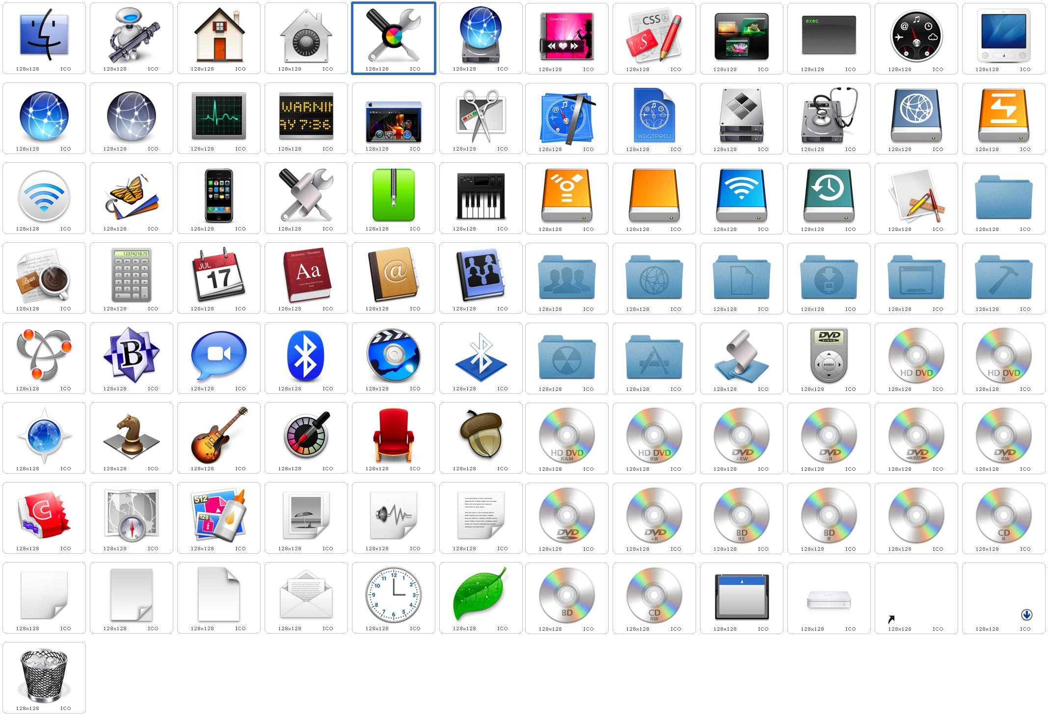 Leopard Default System Icons 2 by hjsergey on DeviantArt